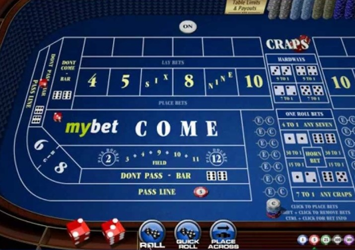Win real money playing online craps casino games