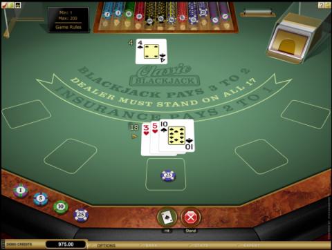 Blackjack at Roxy Palace Casino