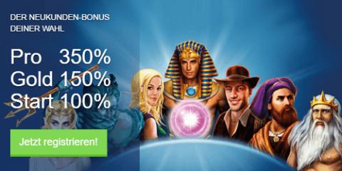 Willkommensbonus im Ares Casino