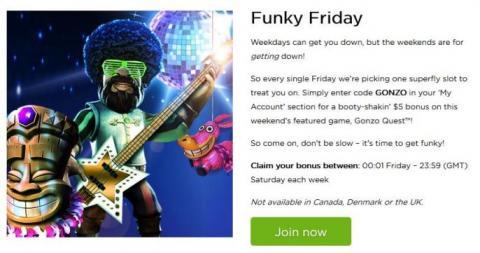 Casino.com Friday bonus