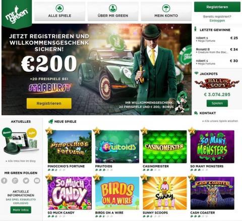 Mr Green online Spiele