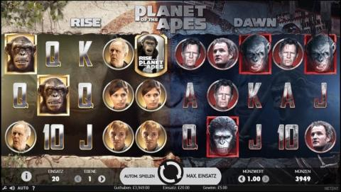 Planet of Apes Spielautomaten