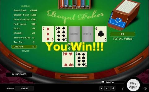 royal poker im bet at home