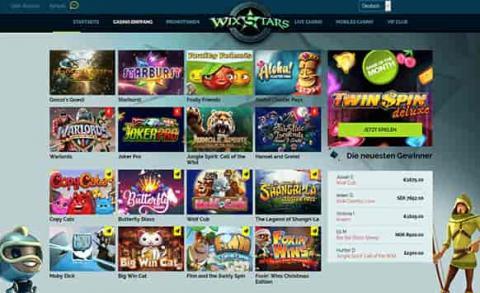 Wixstars Online Casino Slots