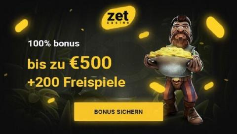 ZetCasino Online Willkommensbonus